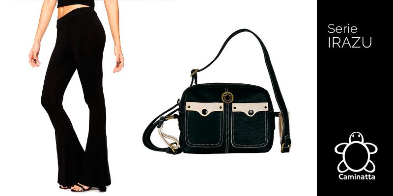 qué bolsos combinar con pantalones campana