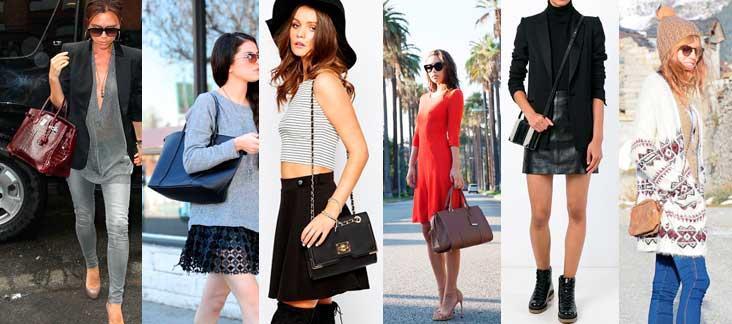 diferetes formas de llevar bolso